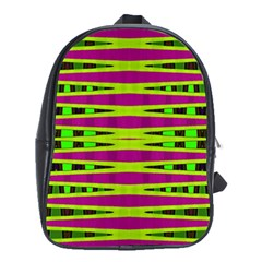 Bright Green Pink Geometric School Bags(large)  by BrightVibesDesign