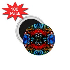 Colorful  Underwater Plants Pattern 1.75  Magnets (100 pack)  by Costasonlineshop