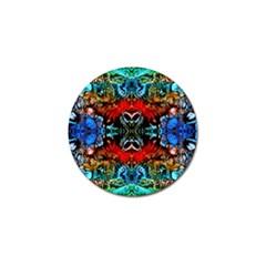 Colorful  Underwater Plants Pattern Golf Ball Marker by Costasonlineshop