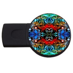 Colorful  Underwater Plants Pattern Usb Flash Drive Round (2 Gb)  by Costasonlineshop