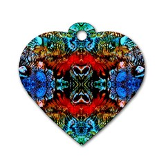 Colorful  Underwater Plants Pattern Dog Tag Heart (two Sides) by Costasonlineshop