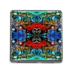 Colorful  Underwater Plants Pattern Memory Card Reader (square) by Costasonlineshop