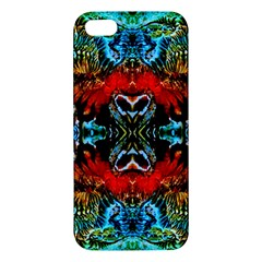 Colorful  Underwater Plants Pattern Apple Iphone 5 Premium Hardshell Case by Costasonlineshop