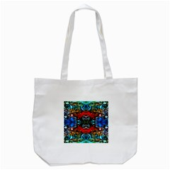 Colorful  Underwater Plants Pattern Tote Bag (white) by Costasonlineshop