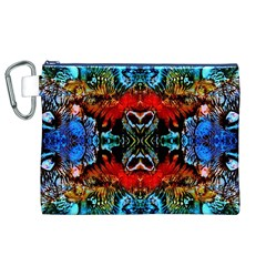 Colorful  Underwater Plants Pattern Canvas Cosmetic Bag (XL)  by Costasonlineshop