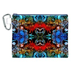 Colorful  Underwater Plants Pattern Canvas Cosmetic Bag (xxl)  by Costasonlineshop