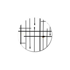 White Limits By Jandi Golf Ball Marker (10 pack) by bighop