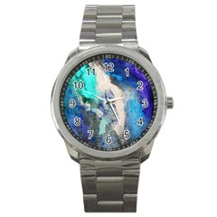 Violet Art Sport Metal Watch by 20JA