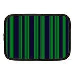 Dark Blue Green Striped Pattern Netbook Case (Medium)