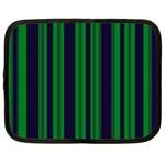 Dark Blue Green Striped Pattern Netbook Case (XXL)