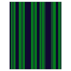 Dark Blue Green Striped Pattern Drawstring Bag (Large) by BrightVibesDesign