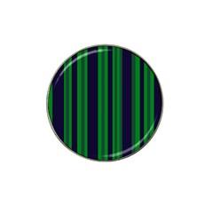 Dark Blue Green Striped Pattern Hat Clip Ball Marker by BrightVibesDesign