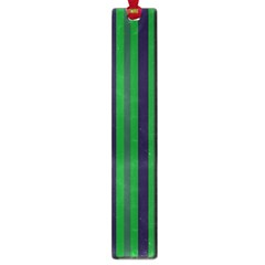 Dark Blue Green Striped Pattern Large Book Marks by BrightVibesDesign