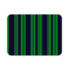 Dark Blue Green Striped Pattern Double Sided Flano Blanket (mini)  by BrightVibesDesign