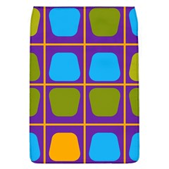 Shapes In Squares Pattern removable Flap Cover (l) by LalyLauraFLM