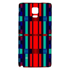 Stripes And Rectangles  			samsung Note 4 Hardshell Back Case by LalyLauraFLM