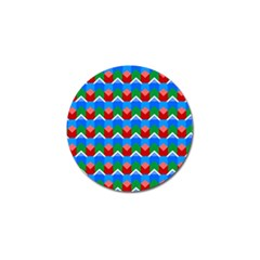 Shapes Rows 			golf Ball Marker (4 Pack) by LalyLauraFLM