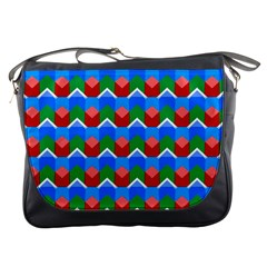 Shapes Rows 			messenger Bag by LalyLauraFLM