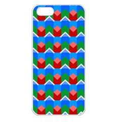 Shapes Rows 			apple Iphone 5 Seamless Case (white) by LalyLauraFLM