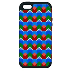 Shapes Rows apple Iphone 5 Hardshell Case (pc+silicone) by LalyLauraFLM