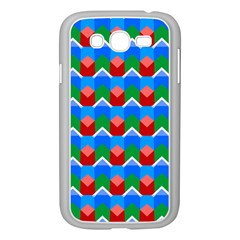 Shapes Rows samsung Galaxy Grand Duos I9082 Case (white) by LalyLauraFLM