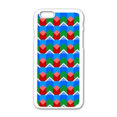 Shapes Rows apple Iphone 6/6s White Enamel Case by LalyLauraFLM