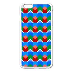 Shapes Rows apple Iphone 6 Plus/6s Plus Enamel White Case by LalyLauraFLM