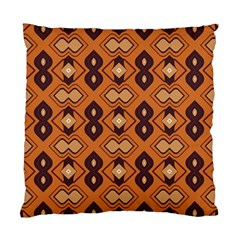 Brown Leaves Pattern 	standard Cushion Case (two Sides) by LalyLauraFLM
