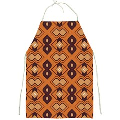 Brown Leaves Pattern 			full Print Apron by LalyLauraFLM