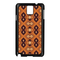 Brown Leaves Pattern 			samsung Galaxy Note 3 N9005 Case (black) by LalyLauraFLM