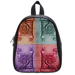 Vintage Flower Squares School Bags (small)  by BrightVibesDesign