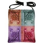 Vintage Flower Squares Shoulder Sling Bags