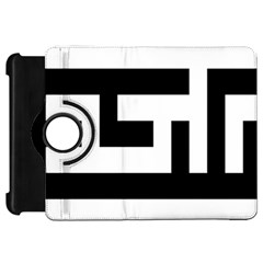 Black And White Kindle Fire Hd Flip 360 Case by timelessartoncanvas