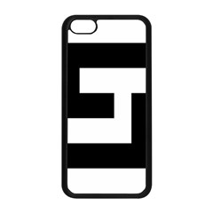 Black And White Apple Iphone 5c Seamless Case (black) by timelessartoncanvas