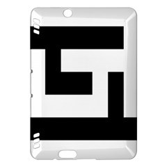 Black And White Kindle Fire Hdx Hardshell Case by timelessartoncanvas