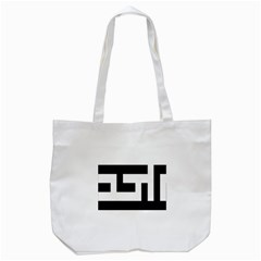Black And White Tote Bag (white) by timelessartoncanvas