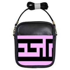 Black And Pink Girls Sling Bags by timelessartoncanvas