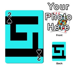 Black And Teal Playing Cards 54 Designs  by timelessartoncanvas