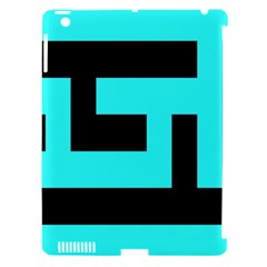 Black And Teal Apple Ipad 3/4 Hardshell Case (compatible With Smart Cover) by timelessartoncanvas