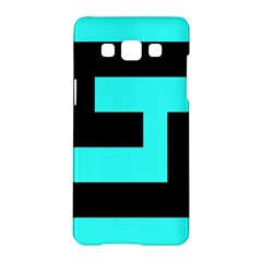 Black And Teal Samsung Galaxy A5 Hardshell Case  by timelessartoncanvas