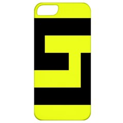 Black And Yellow Apple Iphone 5 Classic Hardshell Case by timelessartoncanvas