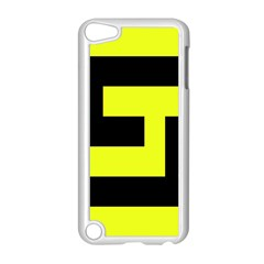 Black And Yellow Apple Ipod Touch 5 Case (white) by timelessartoncanvas
