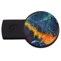 Space Balls Usb Flash Drive Round (4 Gb)  by timelessartoncanvas