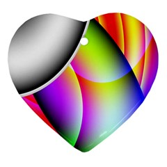 Psychedelic Design Ornament (heart)  by timelessartoncanvas