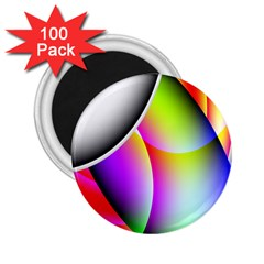 Psychedelic Design 2 25  Magnets (100 Pack)  by timelessartoncanvas