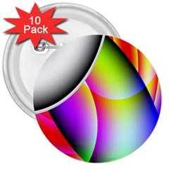 Psychedelic Design 3  Buttons (10 Pack)  by timelessartoncanvas