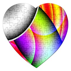 Psychedelic Design Jigsaw Puzzle (heart) by timelessartoncanvas