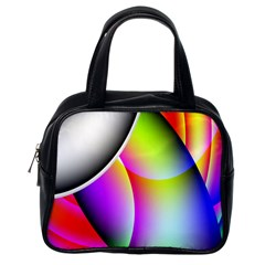 Psychedelic Design Classic Handbags (one Side) by timelessartoncanvas