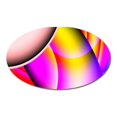 Colorful 1 Oval Magnet by timelessartoncanvas