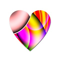 Colorful 1 Heart Magnet by timelessartoncanvas